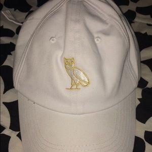 White ovo baseball cap